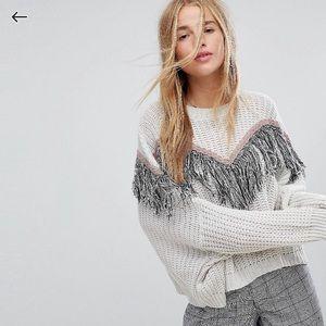 Asos fringe sweater